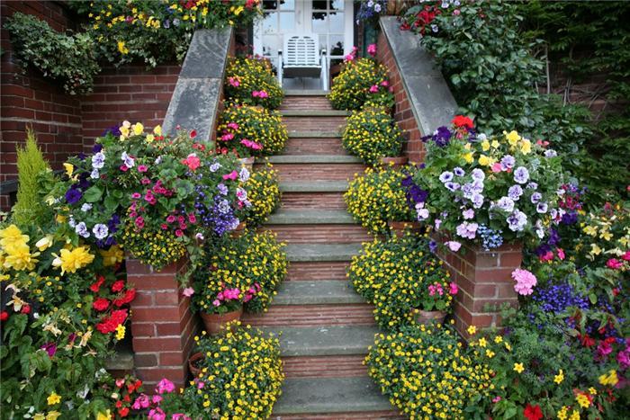 английский сад лестница