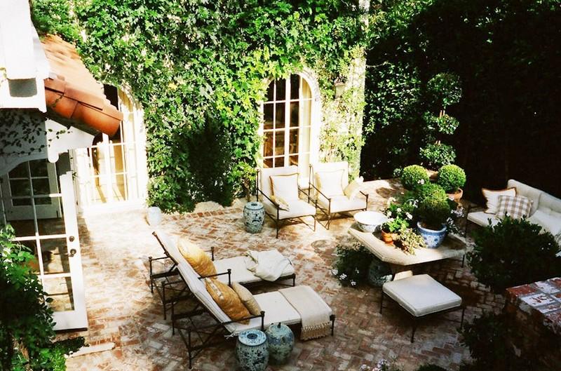 сад в итальянском стиле патио